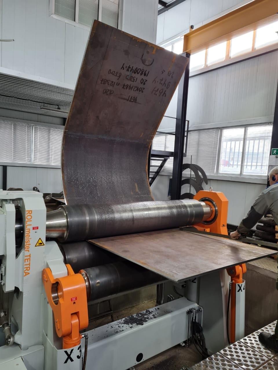 Процесс вальцовки алюминиевого листа